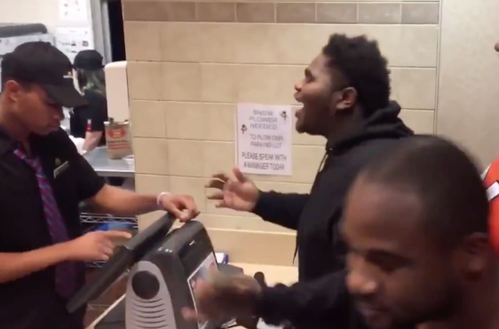 Nice: Dude Freestyles His McDonald's Order!