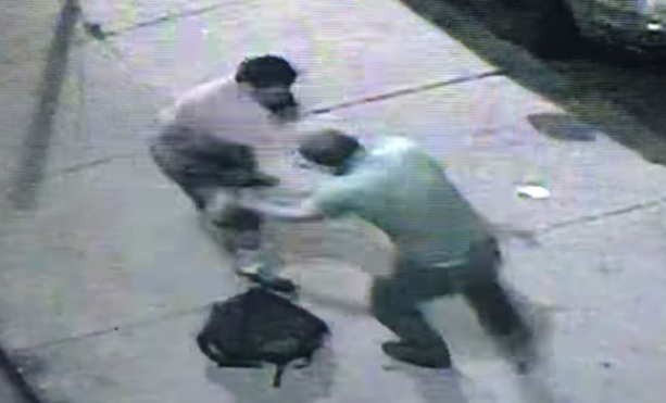 Caught On Surveillance: Two Guys Hug It Out After Beating The Ish Out Of Each Other!