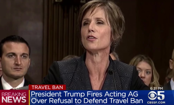 Trump Fires Acting Attorney General  For Refusing To Defend The Legality Of His Refugee Ban!