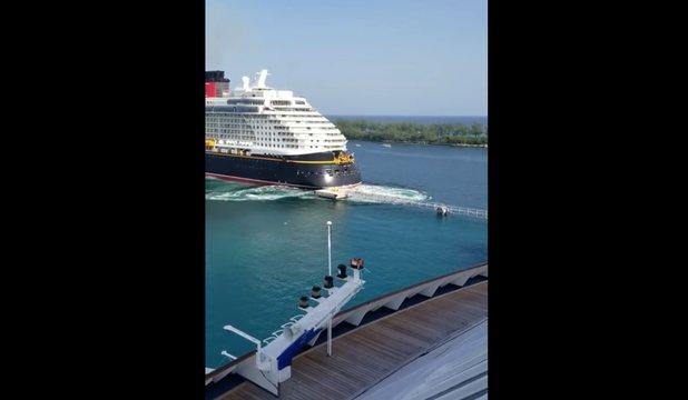 All Bad: Disney Cruise Ship Crashes Docking In The Bahamas!